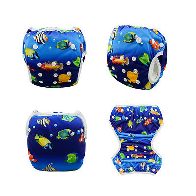 Alva Baby Swim Diaper Pool pant Washable Reusable OneSize Breathable For10-40lbs
