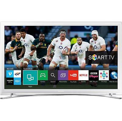 "Samsung UE22H5610 22"" Smart LED 1080p Full HD Freeview HD TV White New"