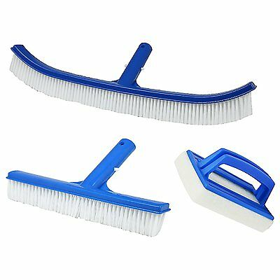 Pool / Swimming Pool Cleaning brush Set, 3 piece Bürstenset to the Pool cleaner