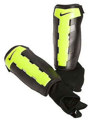 Nike Charge Shin Guards Black / Volt Small (S) with reinforced Tibia