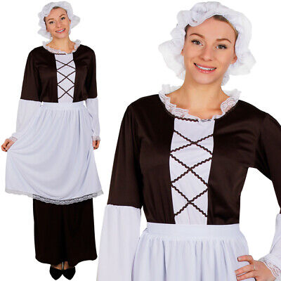 Tudor serving wench peasant 4pc costume fancy dress size 10-32 Ladies  Medieval
