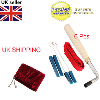 6Pcs Professional Piano Tuning Hammer Wrench Lever Mute Kit Tools New UK