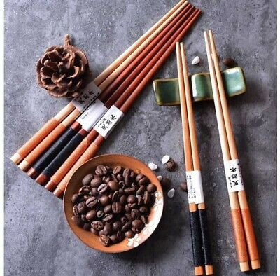 Authentic Japanese Non-slip Iron Wood Chopsticks Chop Sticks High Quality