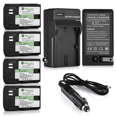 LP-E6 Battery for Canon EOS 6D 60D 7D 70D 5D Mark II III DSLR Camera + Charger