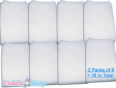 16 DryDayz Medium All White Adult Nappies ABDL Baby Nappy Cuddlz Diapers