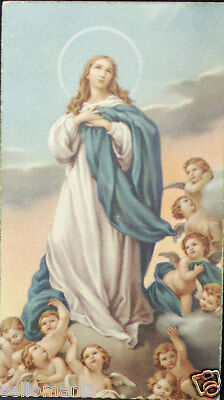 Old Blessed Immaculate Conception Holy Card Andachtsbild Santini Estampa   Cc717