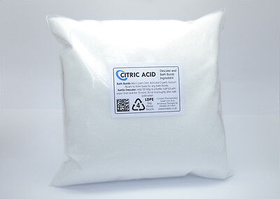 CITRIC ACID 1kg - Purest Food Grade Anhydrous Ultra Fine Powder