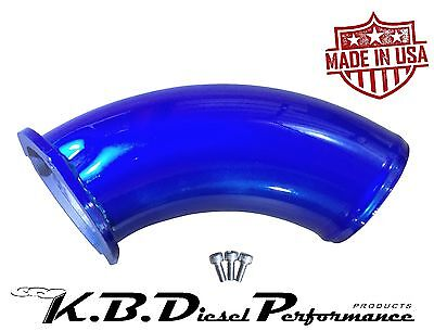 KBDP Candy Blue Turbo Air Intake Elbow Inlet Horn Chevy GMC 6.6l Duramax LB7