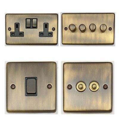 Antique Bronze CAB3 Light Switches, Plug Sockets, Dimmers, Cooker, Fuse, TV, BT