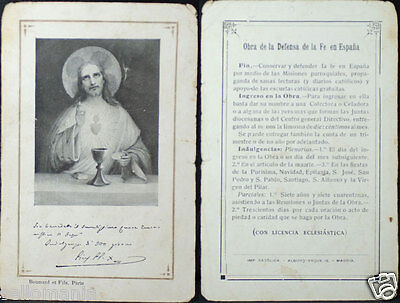 Old Blessed Jesus Christ Defense Of Faith Holy Card Andachtsbild Santini   Cc748