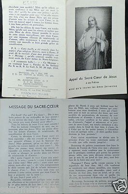 Old Blessed Sacred Heart Of Jesus Holy Card Year 1936 Andachtsbild Santini Cc750