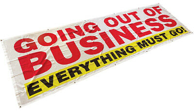 3x10 ft GOING OUT OF BUSINESS Banner Sign Vinyl Alternative Fabric wb