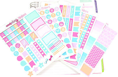 MONTHLY KIT Personal Planner Organiser Reminder Stickers Erin Condren - 6 SHEETS