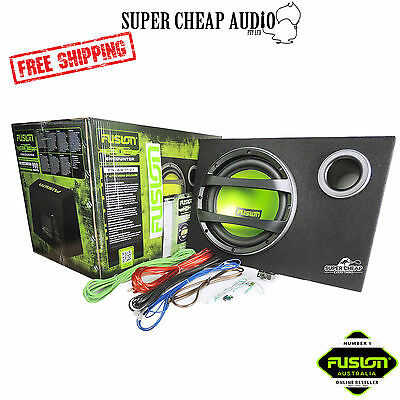 "Fusion En-Ab1121 12"" Inch Enclosure Sub Amp Integrated Amplifier Car Audio Pack"