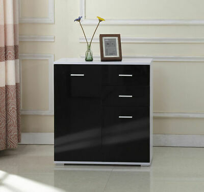 Cabinet Sideboard Cupboard Buffet Solo 2 Doors 2 Drawers Modern High Gloss chest