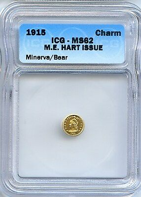 1915 Minerva M.E. Hart's Coins of the West / Certified MS62
