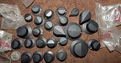 25 Pieces Nos Many Vintage Stereo Amplifier Knobs Raytheon Vintage Usa Made New