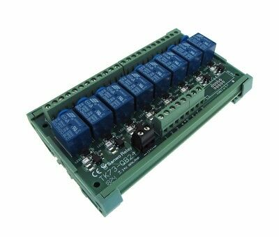 8 Channel 12VDC Relay Board PLC DIN Rail Mounting - PNP
