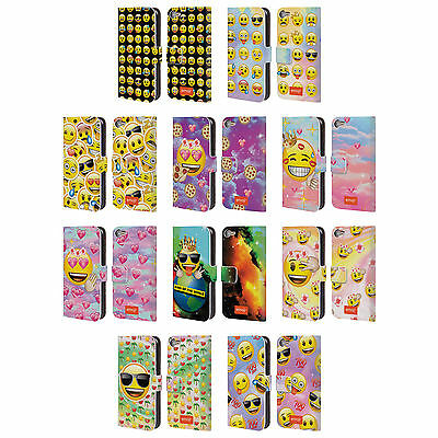 OFFICIAL EMOJI SMILEYS LEATHER BOOK WALLET CASE COVER FOR APPLE iPOD TOUCH MP3