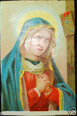 Old Blessed Virgin Mary Holy Card Andachtsbild Santini Estampa      Cc758