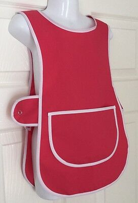 Brand New Choose Size Childrens Kids Tabard Apron Kids Pink Cooking Arts Craft