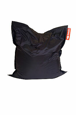 Black Hippo XXL Adult Bean Bag Water Resistant Beanbag Lounger Gamer Outdoor
