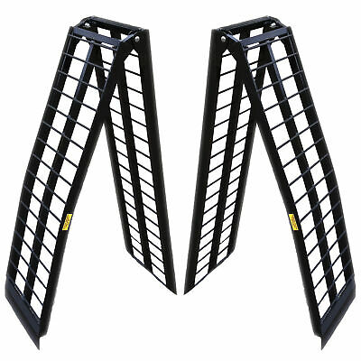 8 ft HD Aluminum UTV Wide Loading Ramps ranger rhino gator atv 2000 lb Capacity