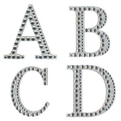 Large Diamante Glitter Letters & Numbers Size 5cm Self Adhesive Free P&P