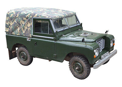 "Land Rover Series 2 or 3 88"" Full Hood - Camouflage Camo - New EXMOOR TRIM"