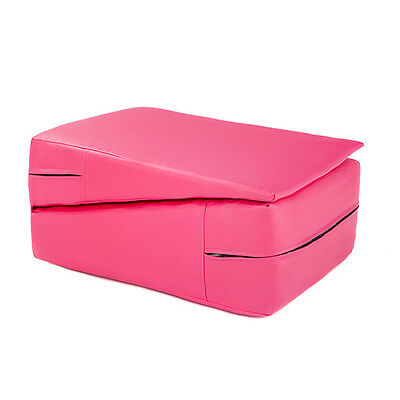 Pink Gymnastics Training Wedge Incline Mounting Yoga Block Vault Folding Pilates