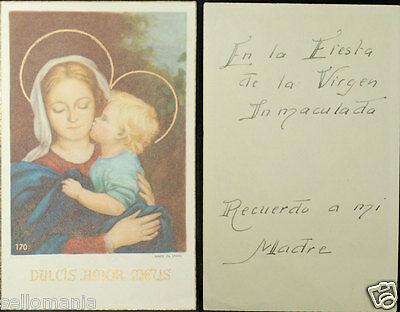Old Blessed Virgin Immaculate Conception Holy Card Andachtsbild Santini    Cc794
