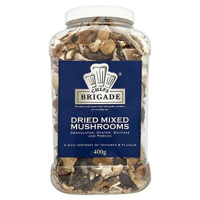 400g x CHEFS BRIGADE DRIED MIXED MUSHROOMS CATERERS JAR Hotels, B&B