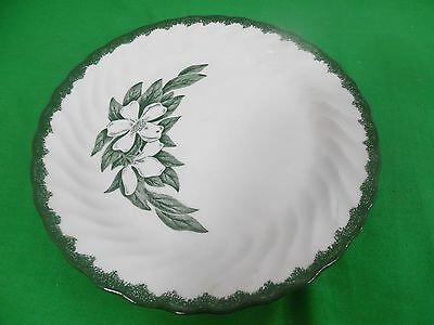 Vintage Forest Dogwood Joni Green Floral Pottery Plate 9.5""