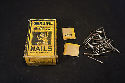 Old Vtg Genuine Nails Chas. F Baker & Company Hold Fast