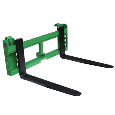 """42"""" Pallet Fork Attachment with 2"""" Trailer Receiver Hitch for John Deere Loader"""