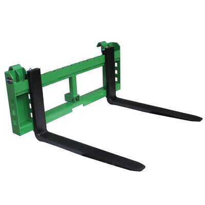 """48"""" Pallet Fork Attachment with 2"""" Trailer Receiver Hitch for John Deere Loader"""