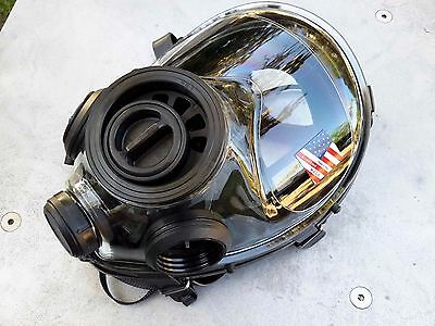 SGE 400/3 40mm NATO NBC / CBRN Gas Mask w/  spectacle frame & 2022 Mestel Filter