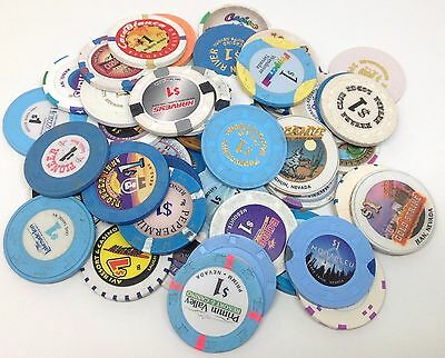 Choose One Authentic $1 Nevada Collector Casino Chips FREE SHIPPING *