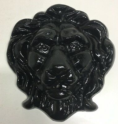 "Victorian Antique Cast Iron Lions Head Wall Water Fountain 20lbs Large 12"" X 12"""