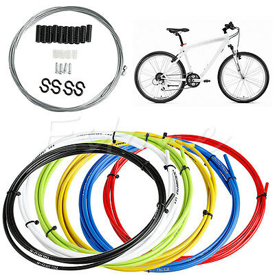 Bike Bicycle Front Rear Inner Outer Wire Brake Gear Shifter Cable Housing Kit