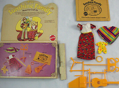 NOS The Sunshine Family Music Fun Craft Kit Instruments & Clothes Complete 1974