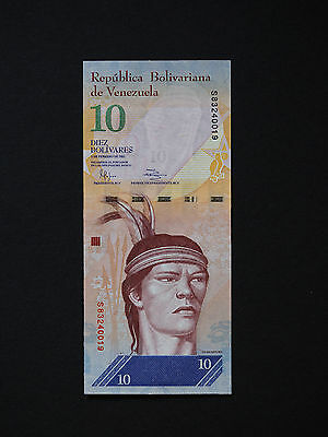 Venezuela Banknotes  -    Magnificent 10  Bolivares Note  -  Lovely  * Unc *