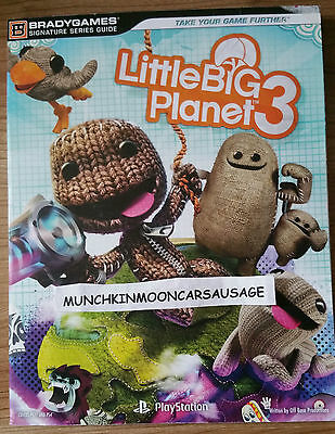 New Little Big Planet 3 Official BradyGames Guide For Sony PS3 & PS4 FREE UK P&P