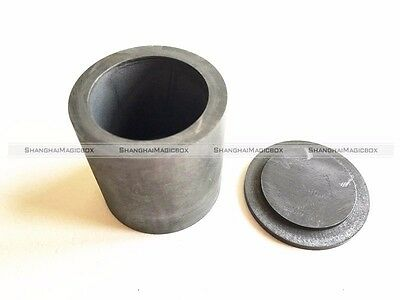 High Purity Graphite Casting Melting Crucible 12.5ml for Gold Silver With Lid