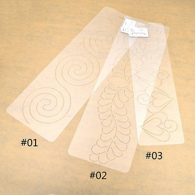 Plastic Clear Quilting Stencil Template for Craft Stitch Sewing DIY Art Craft