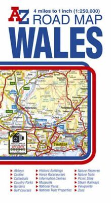 Wales Road Map by Geographers A-Z Map Company Sheet map, folded Book The Cheap