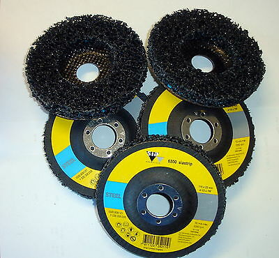 5 x 115mm Clean & Strip wheel Angle Grinder Poly Disc Paint Rust Removal Metal