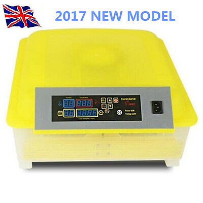 48 Egg Automatic Chicken Incubator Poultry Hatcher  Quail UK/EU Plug + Candler