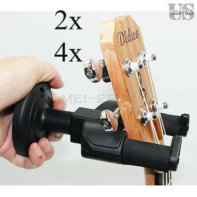 Wholesale Guitar Wall Mount Hanger Holder Stand Rack Hook Display for All Size