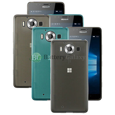 Lot of 3 Black/Blue/Clear Soft Rubber Case for Android Phone Microsoft Lumia 950